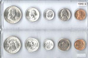 1948-S US Silver mint set in Whitman plastic holder