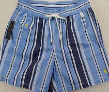 NWT Polo Ralph Lauren SIZE XL Mens Blue Stripe Swim Shorts