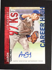 Aaron Sanchez signed 2015 Topps career high CH-AS autograph auto baseball card