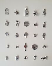 Alice in Wonderland themed charms set 25.