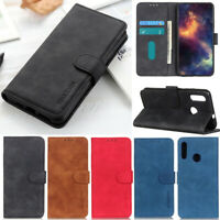 Matte Wallet Leather Flip Case Cover For Huawei Y7 2019 P30 Lite Y9 Prime 2019