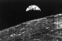 FIRST PHOTO of EARTH FROM MOON, Famous Lunar Orbiter PHOTO, Planet Earth 1966