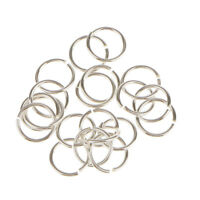 20pcs Sterling Silver Jewelry Finding Connector DIY Necklace Open Jump Rings