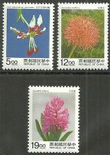 China Taiwan - Zwiebelpflanzen Satz postfrisch 1995 Mi. 2231-2233