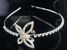 butterfly Women Crystal Rhinestone Crown Hair Hoop Headband Princess Headdress