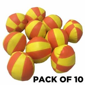 Bean Bag Ball, Soft Feel Vinyl - Pack of 10 - for School, Boxing, Gym or Cardio