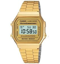 Casio Vintage Classic Gold Plated Adjustable Clasp Watch Unisex New A168WG-9VT