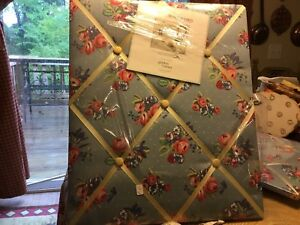 (2) Waverly-Garden Room-Memory Boards-Blue W/ Roses-Brand New-Excellent! LOOK!