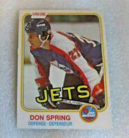 1982-83 O-Pee-Chee ROOKIE Hockey Card Don Spring Winnipeg Jets! #375 NM RC D-man