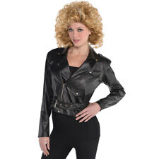 Sandy Cropped Leather Jacket Grease Sandra Dee Olsson Carnival Movie Greese