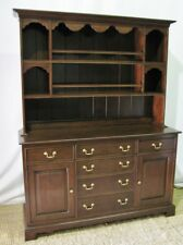 Harden Furniture Chippendale Style Cherry Buffet & Hutch; Excellent Condition