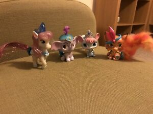Set of 4 Disney Palace Pets Furry Tail Friends by Blip