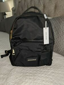 NWT $250 Marc Jacobs Black Nylon Backpack Bag  Gold Hardware Zipper M0013946-001