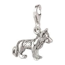 Charm / Anhänger Hund Schäferhund 3 mit Karabinerverschluß 925 Sterling Silber