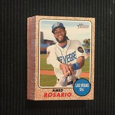 2017 TOPPS HERITAGE MINOR NEW YORK METS TEAM SET 11 CARDS  AMED ROSARIO +