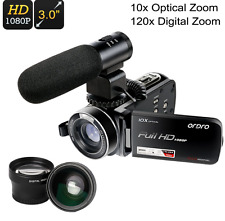 Handheld Camera 1080p Video Digital Hd Full Camcorder Wide-Angle 120x Zoom 3 In