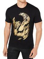 INC Mens T-Shirt Black Size 3XL Trippy Foil Skull Graphic Tee Crewneck $29 219