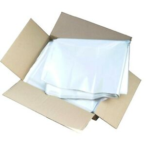 "Clear Refuse Sacks Bin Bags 120G Rubbish Scrap / Waste Large 18""x29""x39"" Cheap"