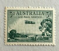 "APD539) Australia 1929 Type A 3d Airmail ""wet printing"" MUH"
