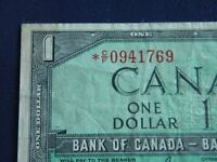 1954 Canada 1 Dollar Replacement Bank Note-*CF0941769-VF Cond.  20-342