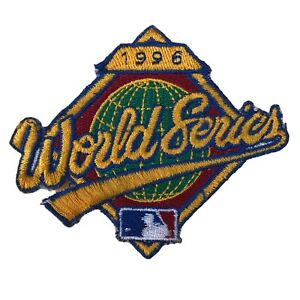 """1996 WORLD SERIES MLB BASEBALL NEW YORK YANKEES 3 5/8"""" EMBROIDERED PATCH"""