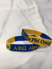 Set of 2 Alpha Phi Omega Silicone Bracelets Brand New FREE SHIPPING!!!