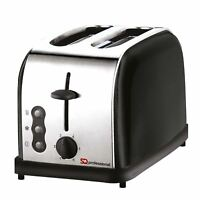 900w 2 Slice Toaster Stainless Steel Legacy Wide Slots Defrost Reheat – Black