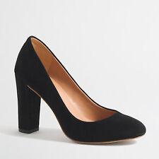 NIB J. CREW Factory Women Olive Suede Pumps Black Size 8