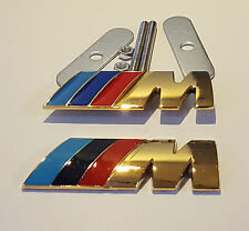 24CT plaqué or BMW M SPORT AVANT Calandre & coffre arrière BADGE 24K GRILLE
