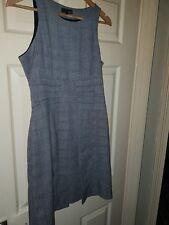 Womens Black and White Check Next Sleeveless Shift Dress. Size 8.