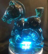 Fenton Heisey Art Glass ~ Blue ~ Sparky Plug Horse ~ HCA89