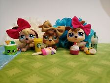 Littlest Pet Shop  #1338 #1339 #1340 Petriplets Triplets Baby Dog Puppy w/Access