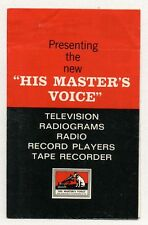 1960s HMV Television Sets Radiograms Radio & Record Player advertising brochure
