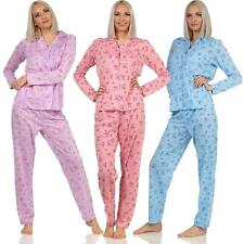 Damen Pyjama lang zweiteiliger Schlafanzug Pyjama-Set Nachtwäsche