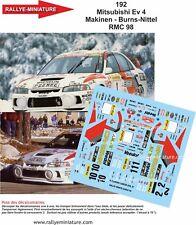 DECALS 1/18 REF 192 MITSUBISHI LANCER MAKINEN RALLYE MONTE CARLO 1998 RALLY WRC