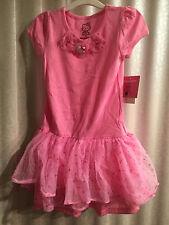 Hello Kitty Pink Ruffle Girls Dress Sparkle Charms Size 5