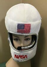 Kid's Plush NASA Astronaut Outer Space Helmet Hat Hood Costume Accessory