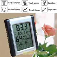 Wireless Weather Station LCD Touch Thermometer Barometer Humidity Indoor US