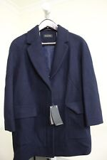 Massimo Dutti Wool Blend Navy Button Down Full Zippered Lined Jacket Size - Med