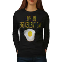 Wellcoda Positive Egg Womens Long Sleeve T-shirt, Excellent Casual Design