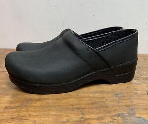 DANSKO Clogs Sz 43 Black Nubuck leather shoes Womens 12.5-13   Mens 9.5-10