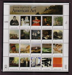 US #3236 American Art 32 Cents Complete Sheet of 20 Mint Never Hinged
