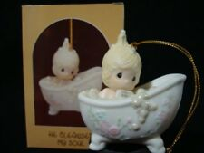 Precious Moments Ornaments-Girl/Bathtub/Bubbles-He Cleansed My Soul