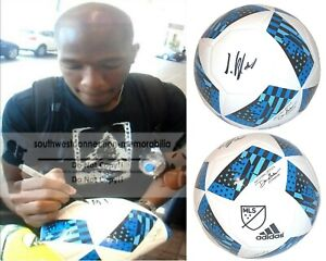 Darlington Nagbe Columbus Crew Signed MLS Soccer Ball Timbers Proof of Autograph