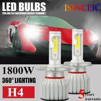 2x 1800W CREE H4 LED Headlight Bulbs Conversion Kit 480000LM 6000K Hi/Lo Beam CC