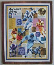 Vintage 1974 Minnesota Vikings 12x15 Team Collage Photo Plaque NFL