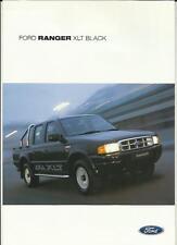 FORD RANGER DOUBLE CAB XLT BLACK SALES BROCHURE JUNE  2002