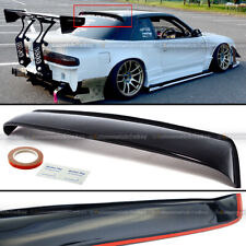 Painted Black Trunk Lip Spoiler R For Nissan 240SX S13 Coupe 89-94 Gen 1