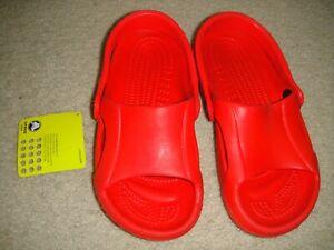 New Crocs NILE Crocband Summer Sandals Junior Sz 4 Red