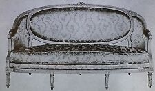 18th c. French Louis XVI Sofa by H. Jacob, Magic Lantern Glass Photo Slide